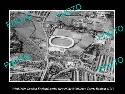OLD LARGE HISTORIC PHOTO OF WIMBLEDON LONDON ENGLAND, THE SPORTS STADIUM c1930