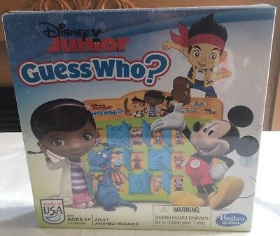 Disney Jr Guess WhoGame Hasbro NEW Junior Guess Who Game