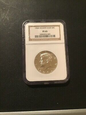 1964 Silver Accent Hair NCG Graded MS65! A Brillant GEM! Slight Cameo Obverse!