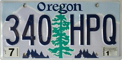 USA Number Licence Plate OREGON