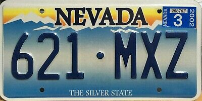 "USA Number Licence Plate NEVADA  ""THE SILVER STATE"" EMBOSSED"
