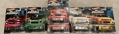 6 Car Set 2019 Hot Wheels Fast & Furious Original Fast Case B Read Description