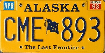 USA Number Licence Plate ALASKA THE LAST FRONTIER