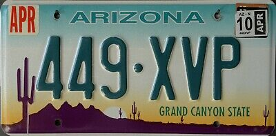 USA Number Licence Plate ARIZONA EMBOSSED