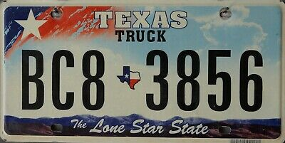 USA Number Licence Plate TEXAS TRUCK LIGHT BLUJE SKY