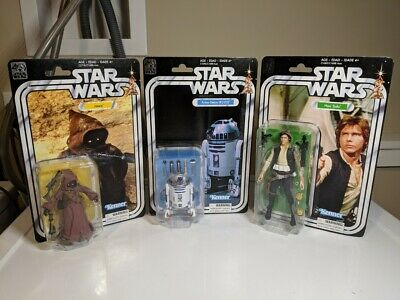 Star Wars 40th Anniversary Black Series 6 inch Retro Kenner JAWA, R2D2, SOLO