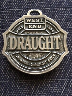 West End Draught Stubbie Opener for Keyring Metal Good Cond.
