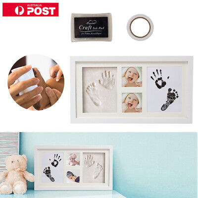 AU  Baby Hand and Foot Print Kit 2D&3D Photo Frame Newborn Unique Keepsake Gifts