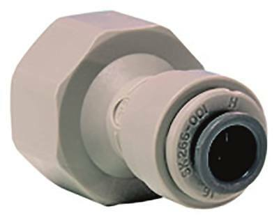 """John Guest Rohrsteckverbinder Flat Sealing Straight 1/2 """" Bsp Pipe Connection"""