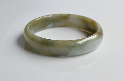 antique CHINESE hand CARVED lavender GREEN JADE JADEITE BRACELET BANGLE small