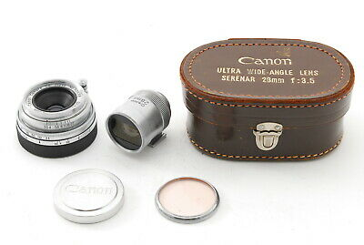 【NEAR MINT w/ Finder Case】Canon Serenar 28mm f3.5 Leica Screw L39 LTM JAPAN 500