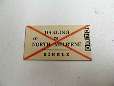Old Vic Rail Ticket Darling To North Melbourne