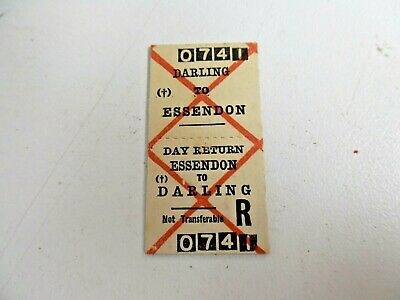 Old Vic Rail Ticket Darling To Essendon
