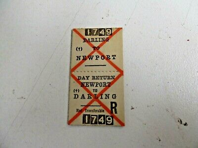 Old Vic Rail Ticket Darling To Newport