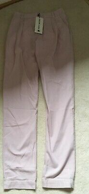 girls pink cotton trousers age 12 brand new with tags