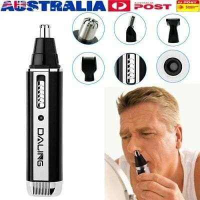 New Nose Ear Hair Removal Trimmer Shaver Clipper Cleaner Silver and Black OU