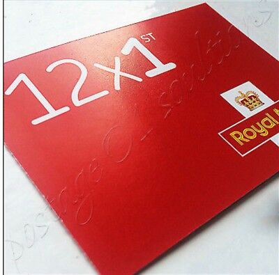 new 1st class stamp Royal Mail , book of 12 uk stamps