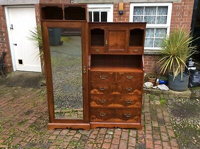 Antique Edwadian Fitted Wardrobe From Attic Room