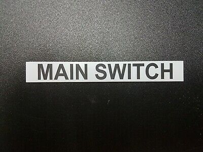 Main Switch Laser Engraved Label Made In Australia      Price For 2 Items.