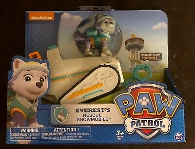 Paw Patrol Everests Rescue Snowmobile Toy Vehicle Figure- Spin Master