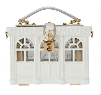 63f339b552f2 NEW $8400 DOLCE & GABBANA Bag Purse Victorian Greenhouse White Padlock Box  Borse