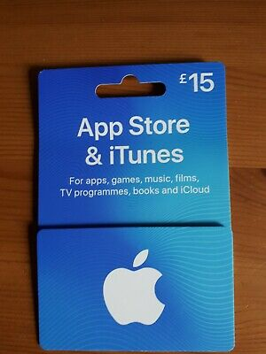 Apple iTunes Gift Card £15. Unwanted gift.