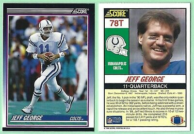 1990 Score Jeff George Indianapolis Colts 634 Rookie