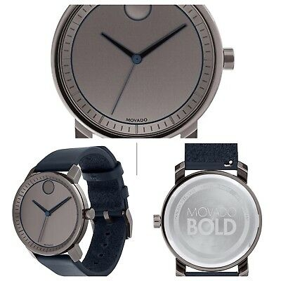 Movado Bold Mens Watch 3600491 Brand New Free Shipping Box & Papers