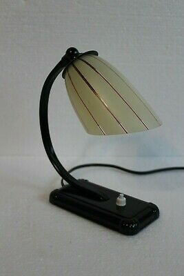 Beautiful Art Deco Table lamp / Bedside Lamp / 1940s / Restored lamp