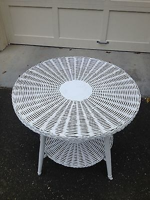 Pair Of Vintage Wicker Tables...**Price Reduced**