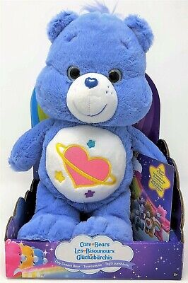 Care Bears Day Dream Bear Blue Soft Plush Toy Care-a-Lot DVD Sleuth of Bears