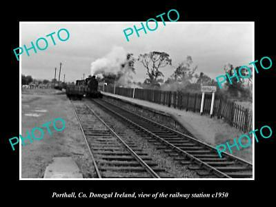 OLD LARGE HISTORIC PHOTO OF PORTALL DONEGAL IRELAND, THE RAILWAY STATION c1950