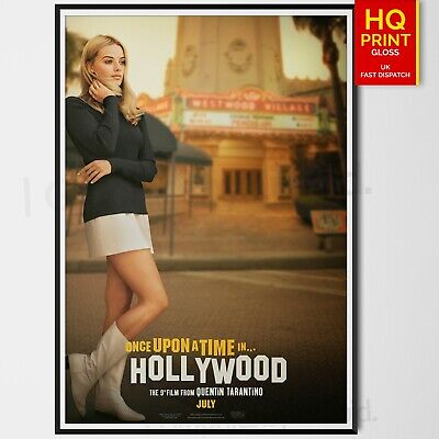 Once Upon A Time in Hollywood Quentin Tarantino 2019 Poster Movie | A4 A3 A2 A1