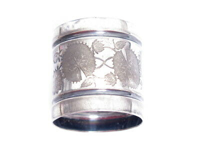 Silver Plated Victorian Antique Infinity Lily Pads Napkin Ring Holder Mdd*A860