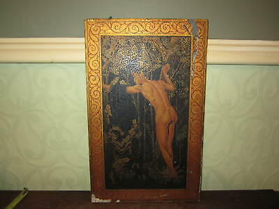 An old painted Art Deco panel - male