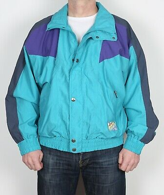 """MAIER Shell Suit Track Top Jacket 46"""" - 48""""  XXL Bomber 90's  (C2K)"""