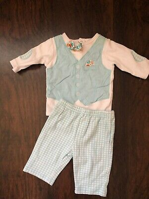 a4152f2d4 Baby Boys 3 Month Vest And Bow One Piece Checkered Pants Easter Outfit Dress  Up