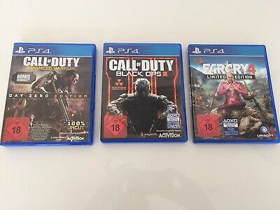 PS4 Spiele Call of Duty Advanced Warfare, Call of Duty Black Ops 3, Far Cry 4