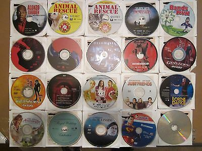 Lot of 20 DVD's, DISCS ONLY, Comedy, Kids, Family, Romance, Drama+,FREE SHIPPING