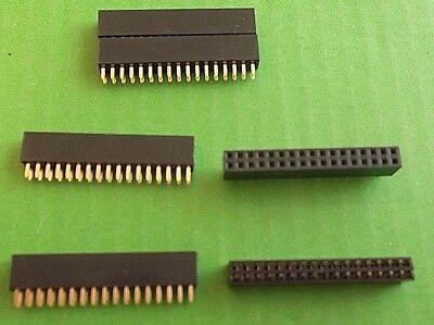 "Socket 34 Way Strip DIL Vertical Female Connector 2.54mm 0.1"" PCB 309 x 1pc"