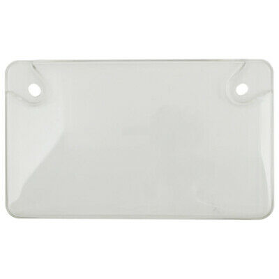 Motorcycle-Bike Clear Unbreakable License Plate Tag Frame Shield Protector Cover