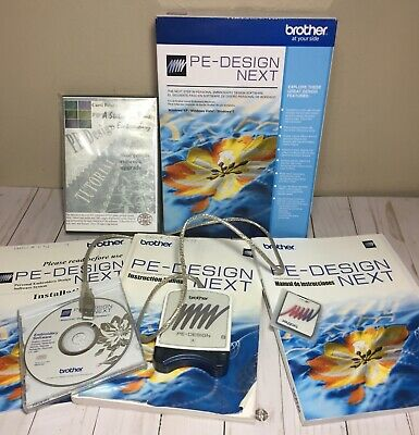 Brother PE DESIGN NEXT Embroidery Software Digitizing FULL Version Tutorial DVDs