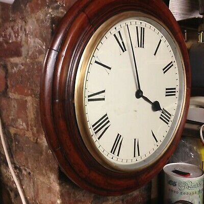 School / railway clock case with Elliott movement