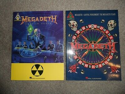 Megadeth Rust in Peace and Capitol Punishment Guitar Tab Books