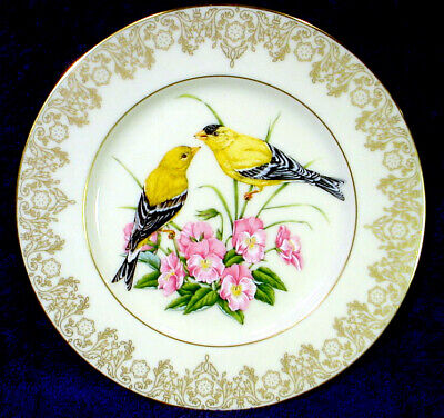 Mint LENOX Fine IVORY China AMERICAN GOLDFINCH Garden Bird Collection PLATE 1991