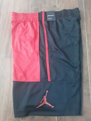 79a94ff44531 NIKE  60 JORDAN FLIGHT PRINTED DRI-FIT BASKETBALL SHORTS Red Black ...