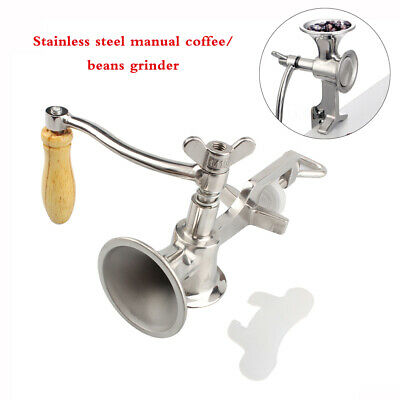 Stainless Steel Mill Grinder Hand Crank Manual Grain Oats Corn Wheat Coffee Nuts