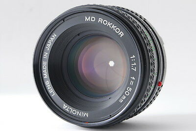 *NEAR MINT+++* MINOLTA NEW MD ROKKOR 50mm F/1.7 MC/MD Mount Lens From Japan #74