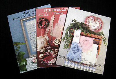 Lot Of 3 Booklets Featuring Specialty Stitches, Hardanger And Drawn Thread Work