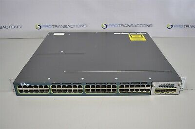 CISCO CATALYST 3560-X Series 48-Port Switch WS-C3560X-48T-S V02 2PSU  C3KX-NM-1G